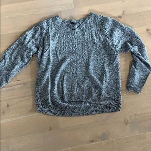 Carol Rose Grey sweater